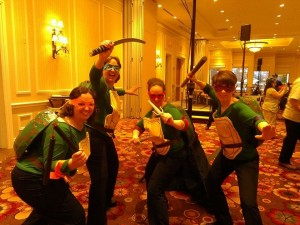 Ninja Turtles posing at AC&C 2014